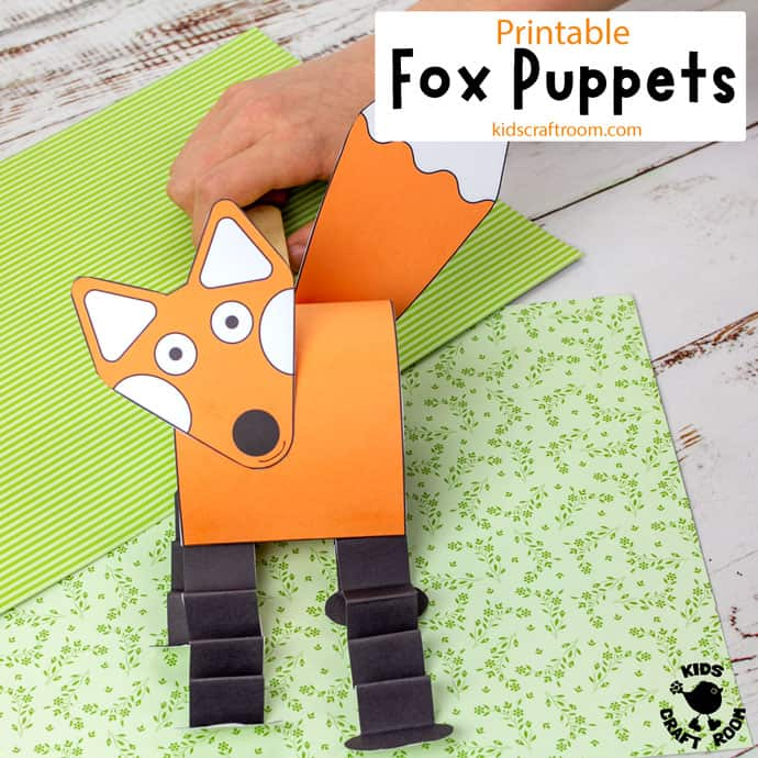 Printable Fox Puppet Craft square image