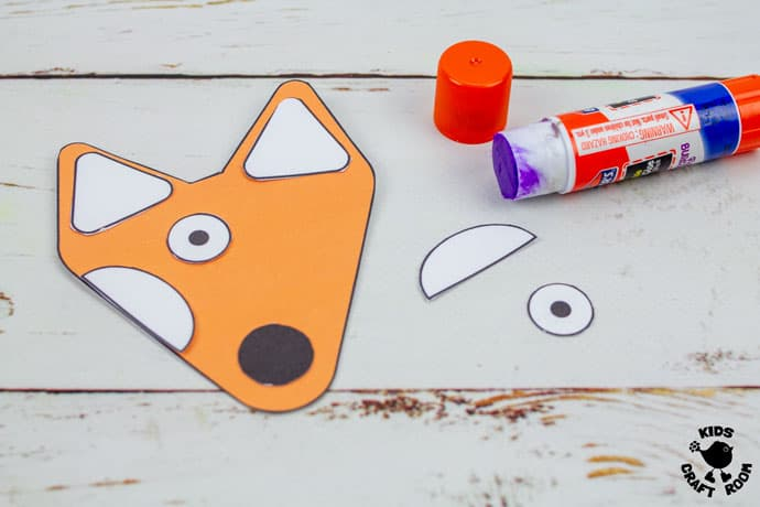 Printable Fox Puppet Craft step 3