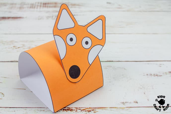 Printable Fox Puppet Craft step 5