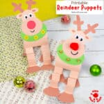 Reindeer Puppet Printable Craft