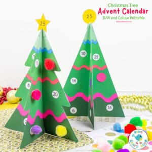 Printable 3D Christmas Tree Advent Calendar