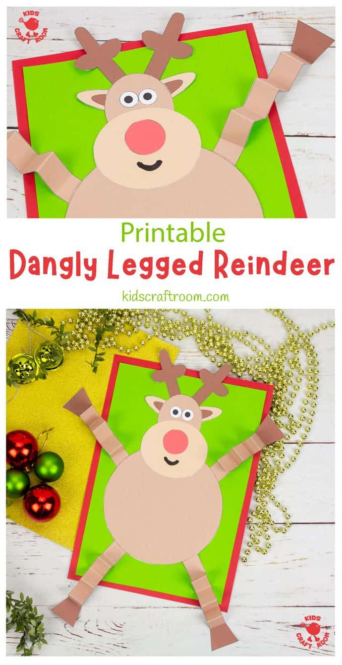 Dangly Legged Reindeer Craft pin image 1