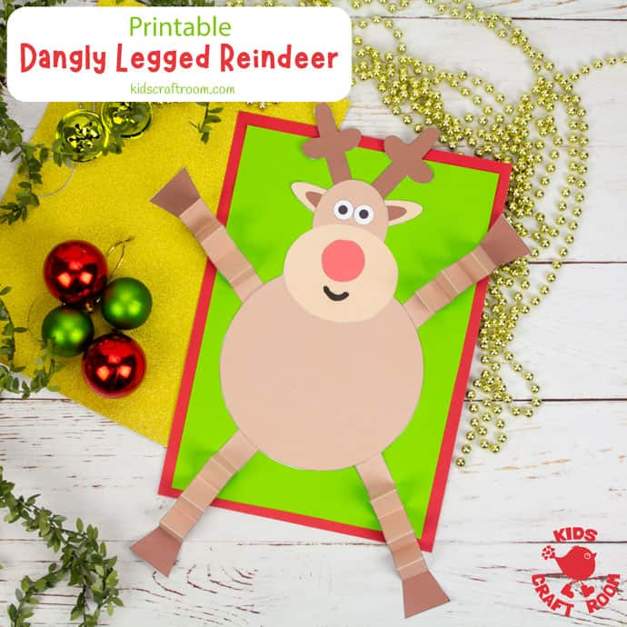 Dangly Legged Reindeer Craft pin image square