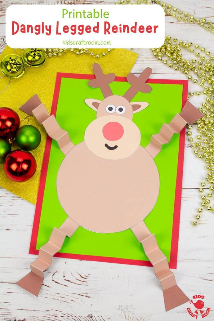 Dangly Legged Reindeer Craft pin image 3