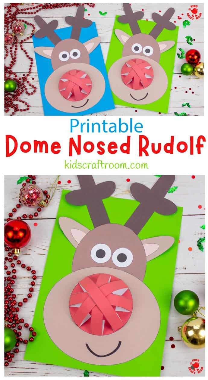 Dome Nosed Reindeer Craft pin image 1
