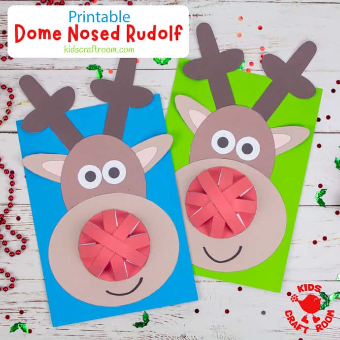 Dome Nosed Reindeer Craft pin image square