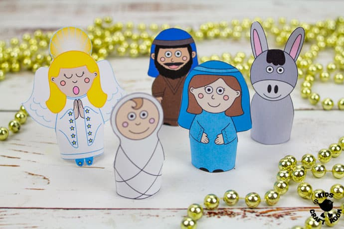 Nativity Finger Puppets To Print step 5