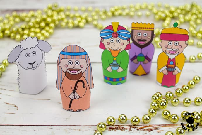Nativity Finger Puppets To Print pin image 2