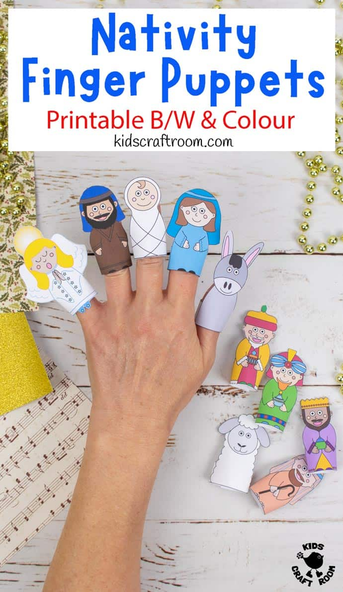 Nativity Finger Puppets To Print pin image 1