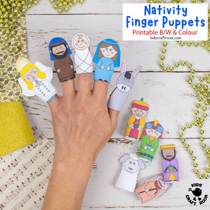 Nativity Finger Puppets To Print pin image 3