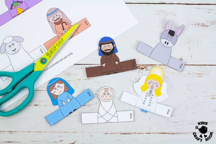 Nativity Finger Puppets To Print step 3
