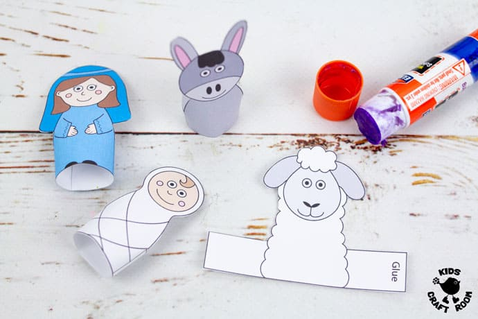 Nativity Finger Puppets To Print step 4