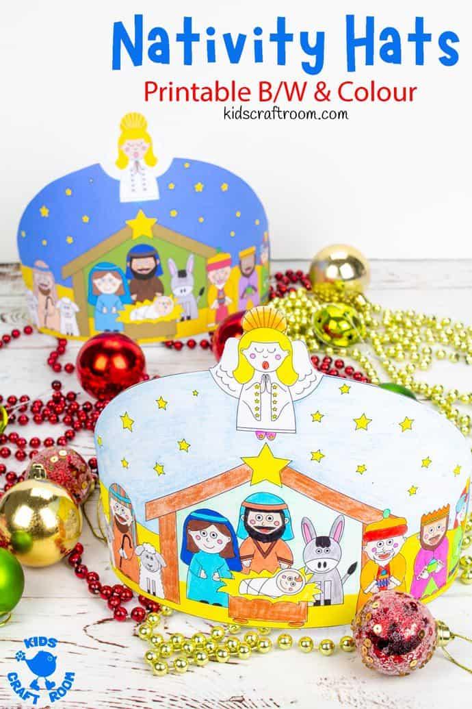 Christmas Nativity Hat Craft pin image 2