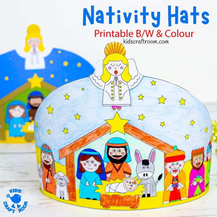 Christmas Nativity Hat Craft square image