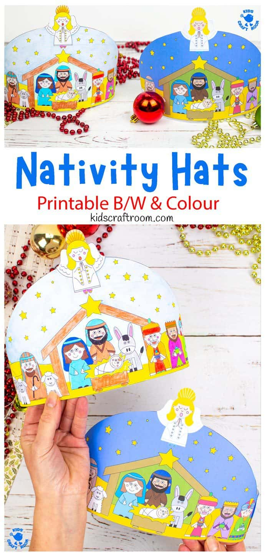Christmas Nativity Hat Craft pin image 1