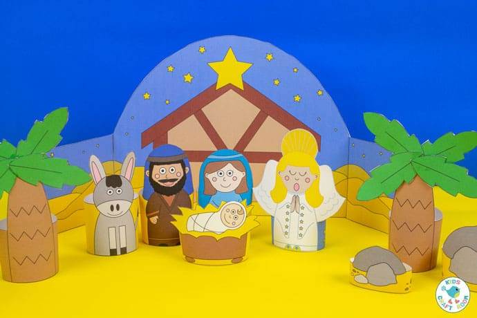 Printable Nativity Set close up image
