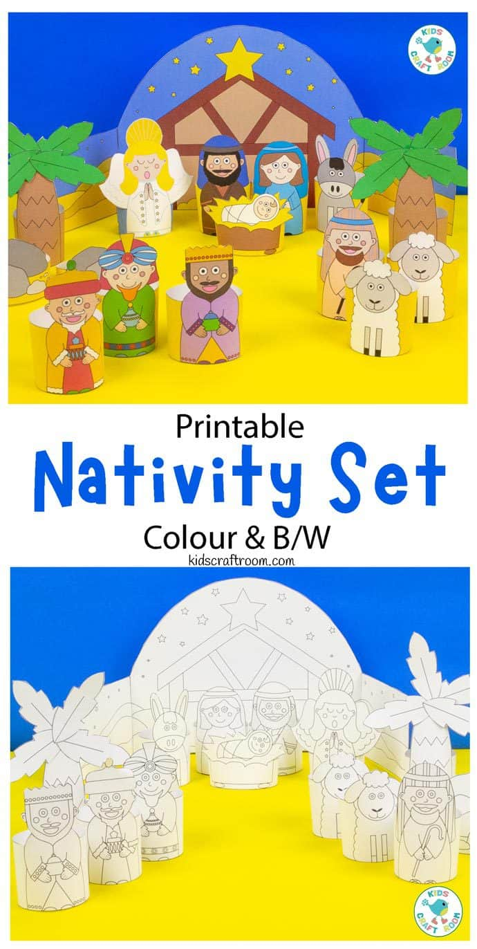 Printable Nativity Set pin image 1