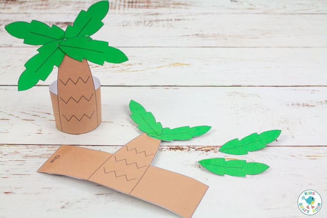 Printable Nativity Set - how to make palm trees
