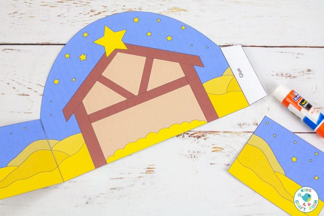 Printable Nativity Set - how to make a stable