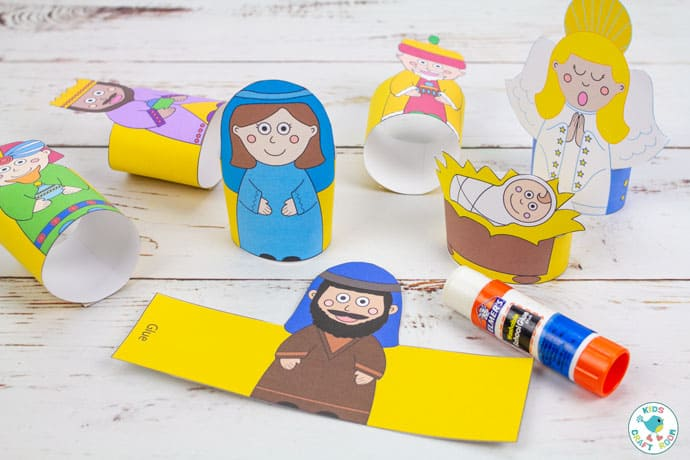 Printable Nativity Set - how to make nativity figures