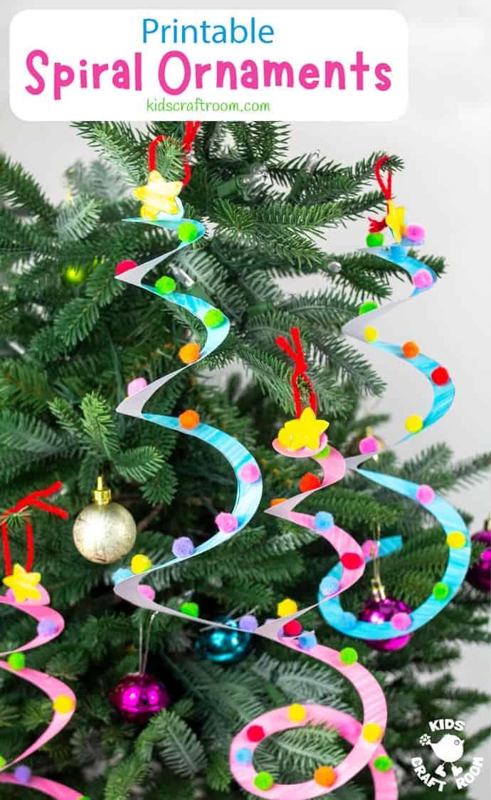 Spiral Christmas Tree Ornament Craft pin image 2