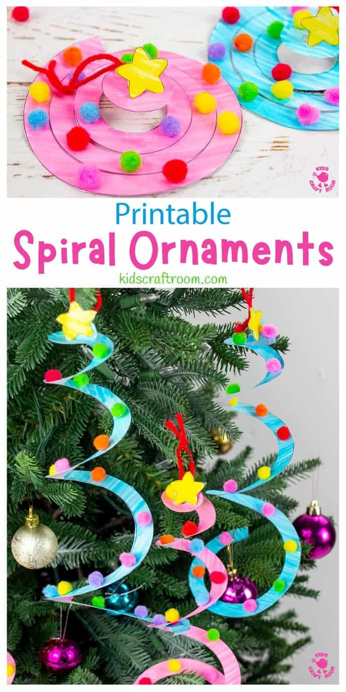 Spiral Christmas Tree Ornament Craft pin image 1