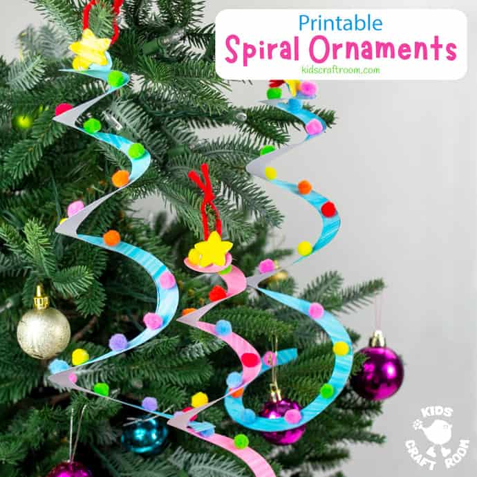 Spiral Christmas Tree Ornament Craft square image