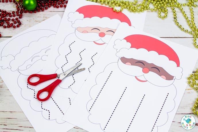 Santa's Beard Christmas Scissor Skills Activity image 3