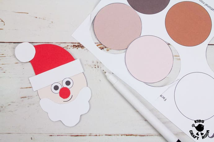 Pop Up Santa Craft step 9