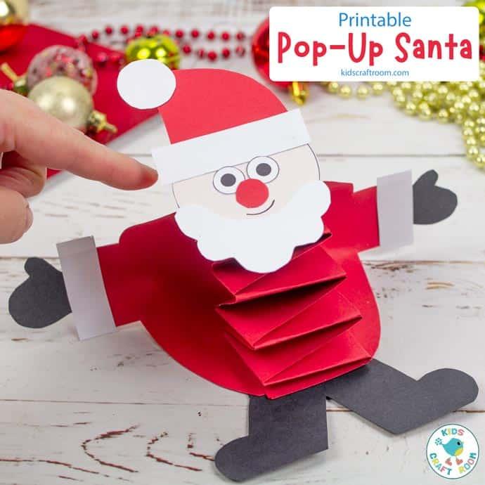 Pop Up Santa Craft pin image square