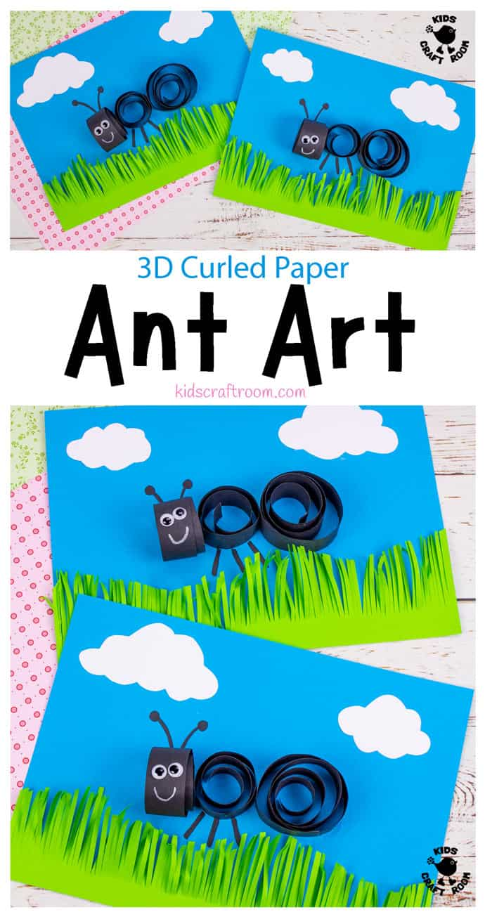 Curled Paper Ant Craft pin image 1