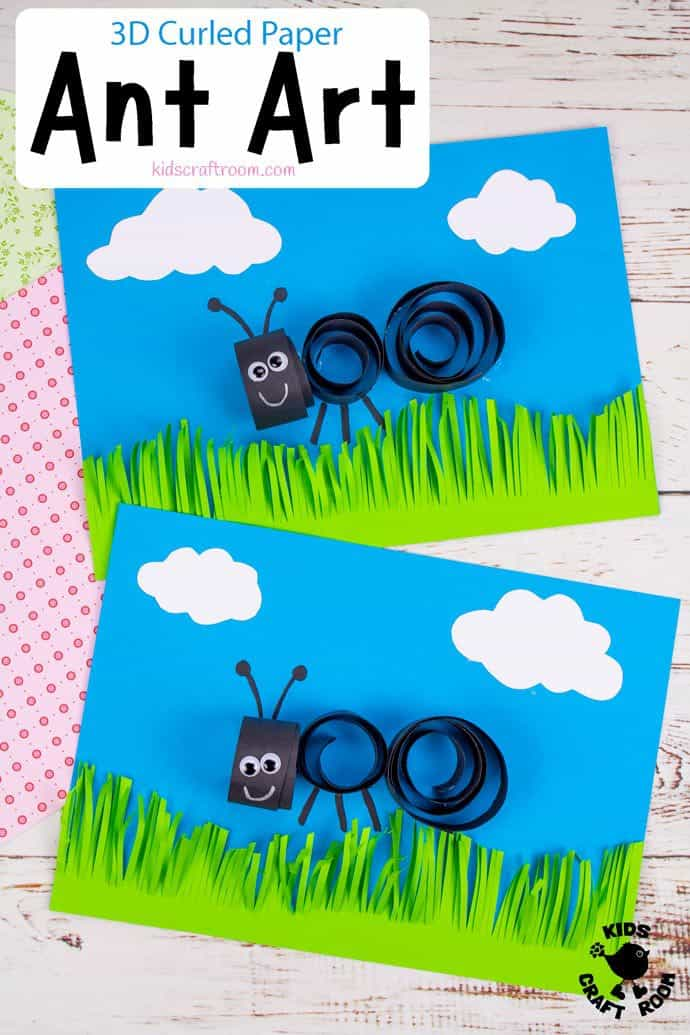 Curled Paper Ant Craft pin image 2