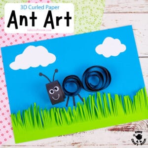 Curled Paper Ant Craft
