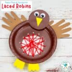 Paper Plate Robin Lacing Craft