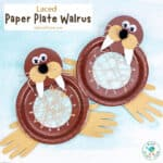 Laced Paper Plate Walrus Craft