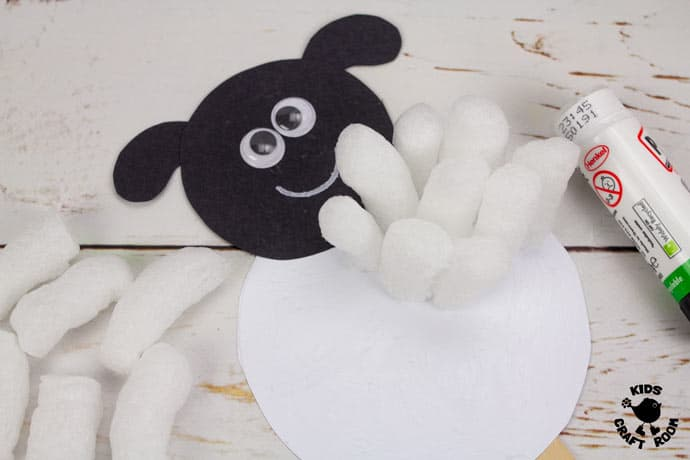 Packing Peanut Sheep Puppets step 5