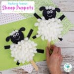 Packing Peanut Sheep Puppets