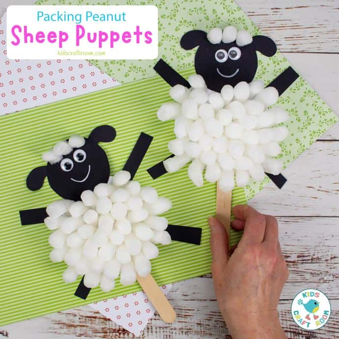 Packing Peanut Sheep Puppets square image