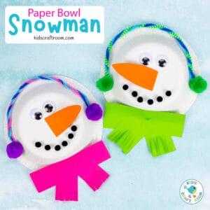 Paper Bowl Snowman Craft