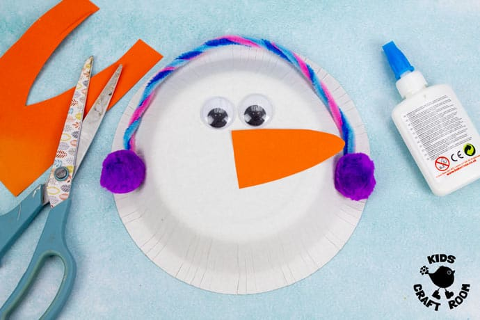 Paper Bowl Snowman Craft step 3