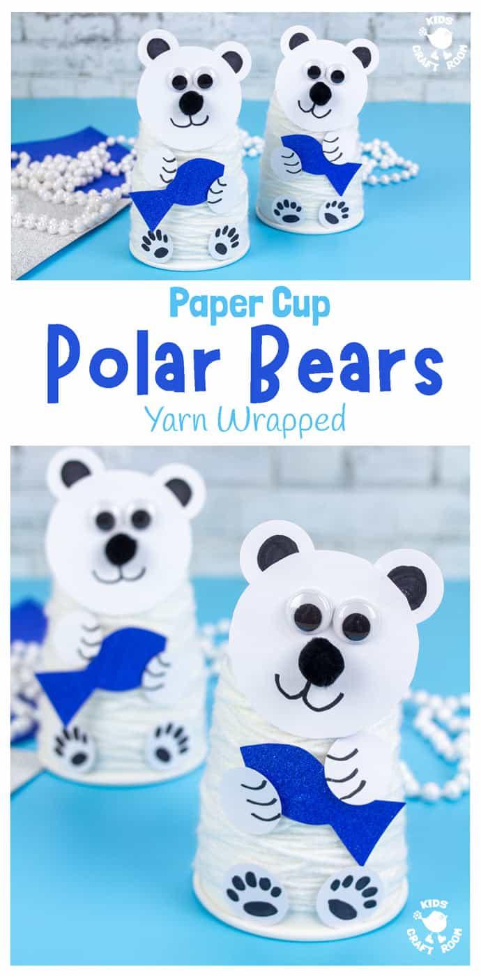 Paper Cup Polar Bear pin image 1