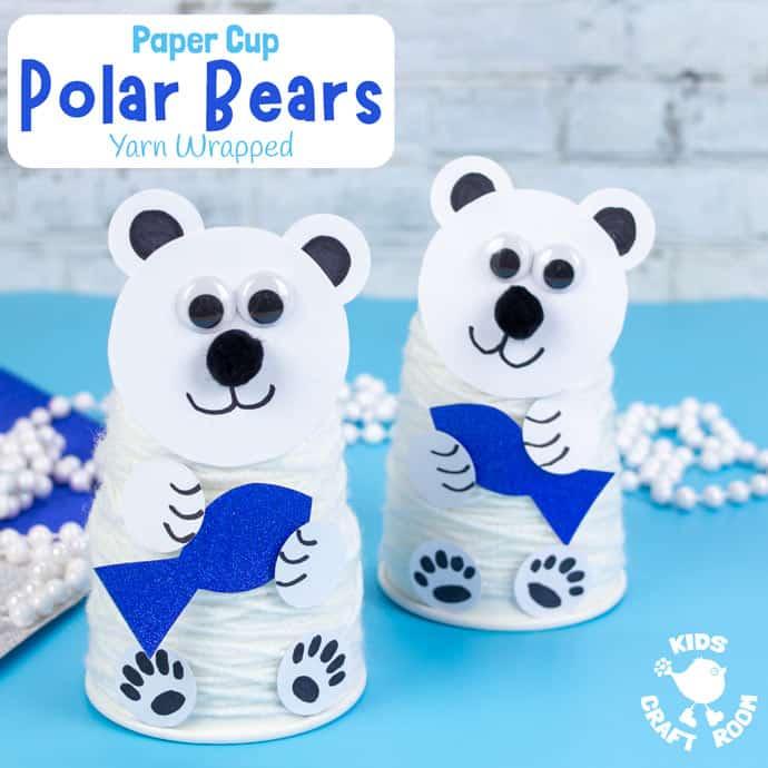 Paper Cup Polar Bear Craft