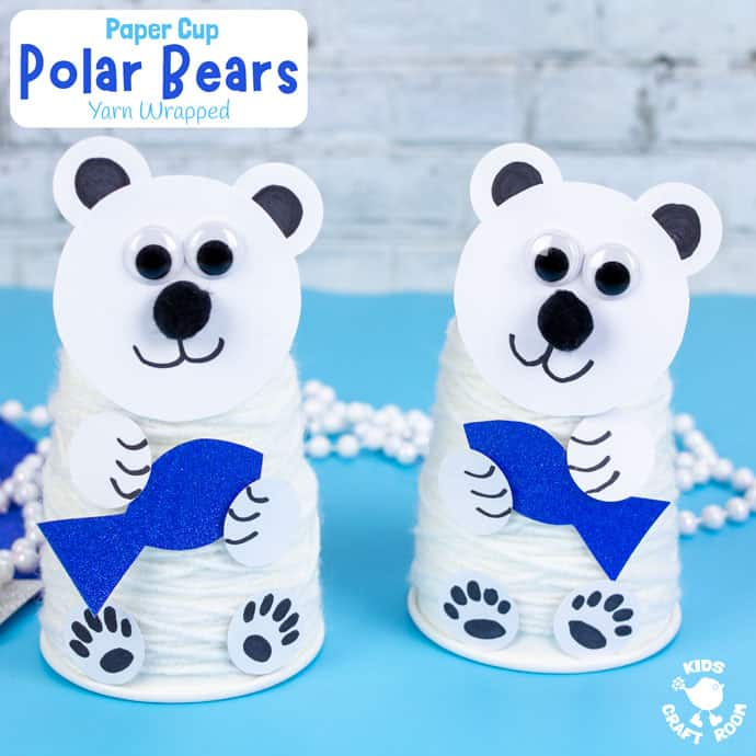 Paper Cup Polar Bear Craft square image
