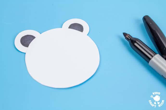 Paper Cup Polar Bear Craft step 3