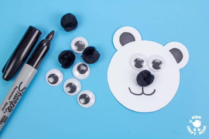 Paper Cup Polar Bear Craft step 4