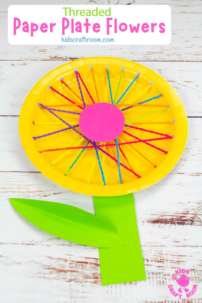 Threaded Paper Plate Flowers pin image 3