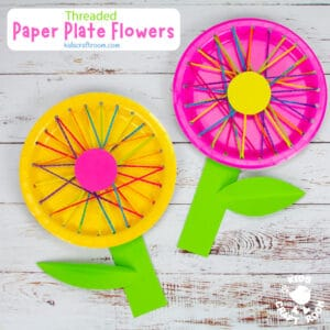 Threaded Paper Plate Flowers