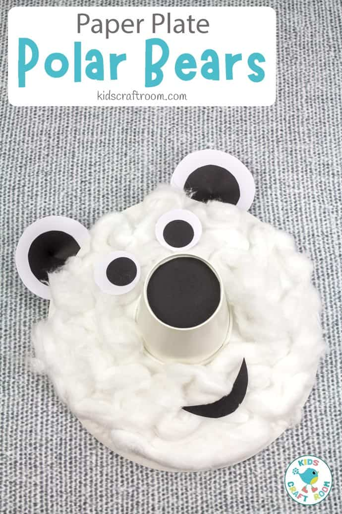 Paper Plate Polar Bear Craft long pin image 2