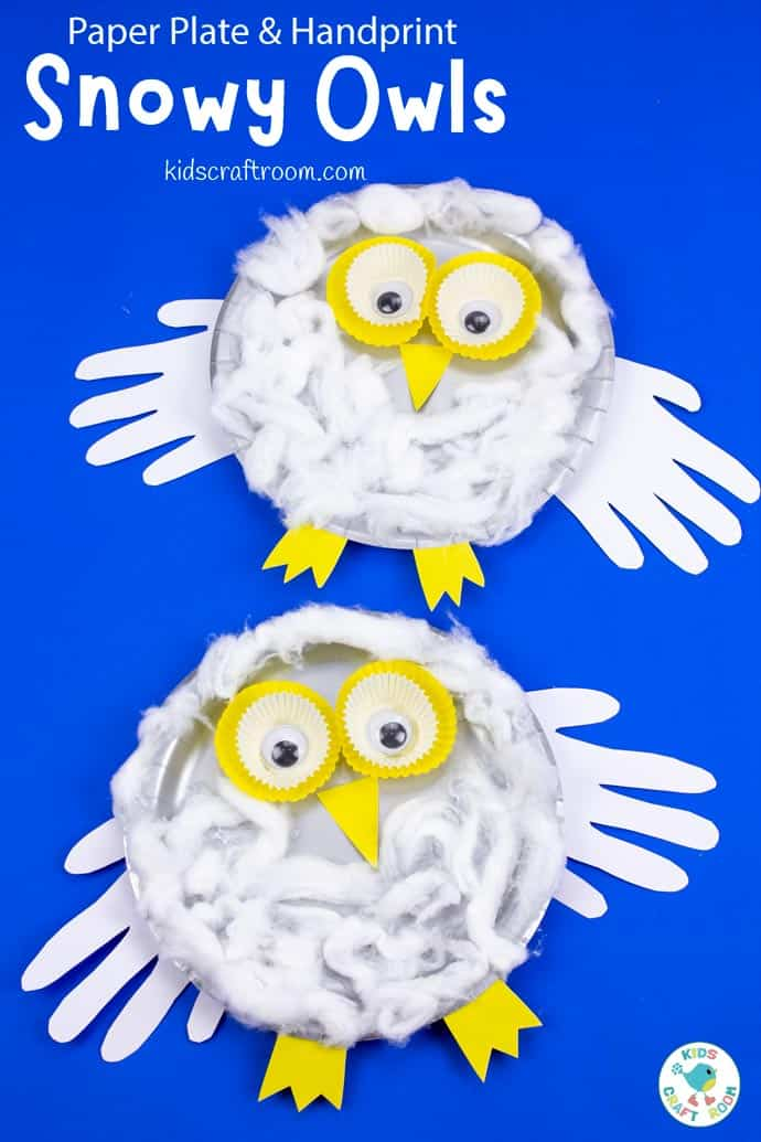 Paper Plate Snowy Owl Craft pin image 2