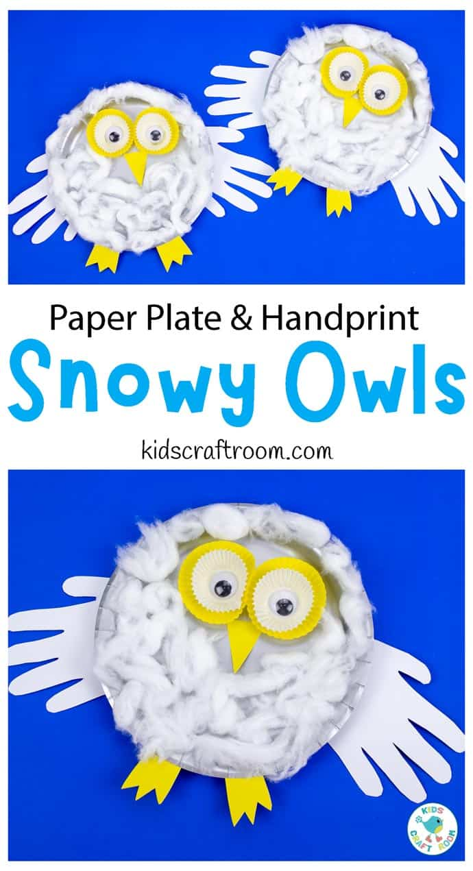 Paper Plate Snowy Owl Craft pin image 1